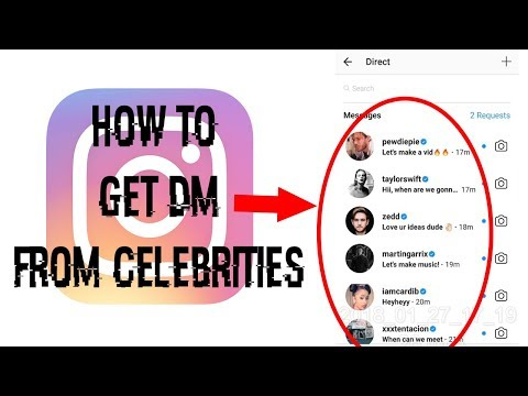 How to get DM from Celebrities!