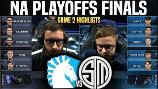 TL vs TSM Game 2 Highlights LCS Playoffs Final - Team Liquid vs Team SoloMid Game 2 Highlights LCS