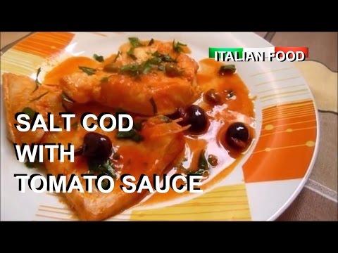 SALT COD WITH TOMATO SAUCE 👍 ITALIAN FOOD BACCALA' ALLA PIZZAIOLA