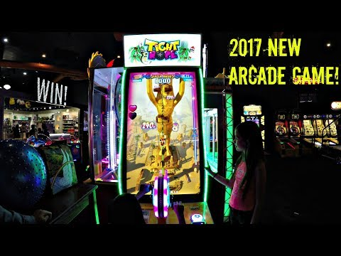 NEW 2017 ARCADE GAME By Andamiro - Tight Rope Arcade Video Game: Rocky vs Piper vs M&M