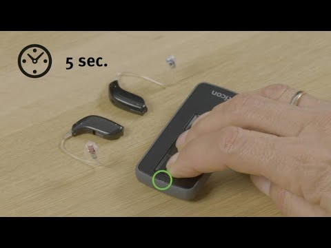 How To Unpair Oticon Hearing Aids And Remote Control Youtube