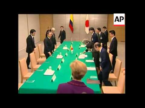 Colombian president meets Japanese PM