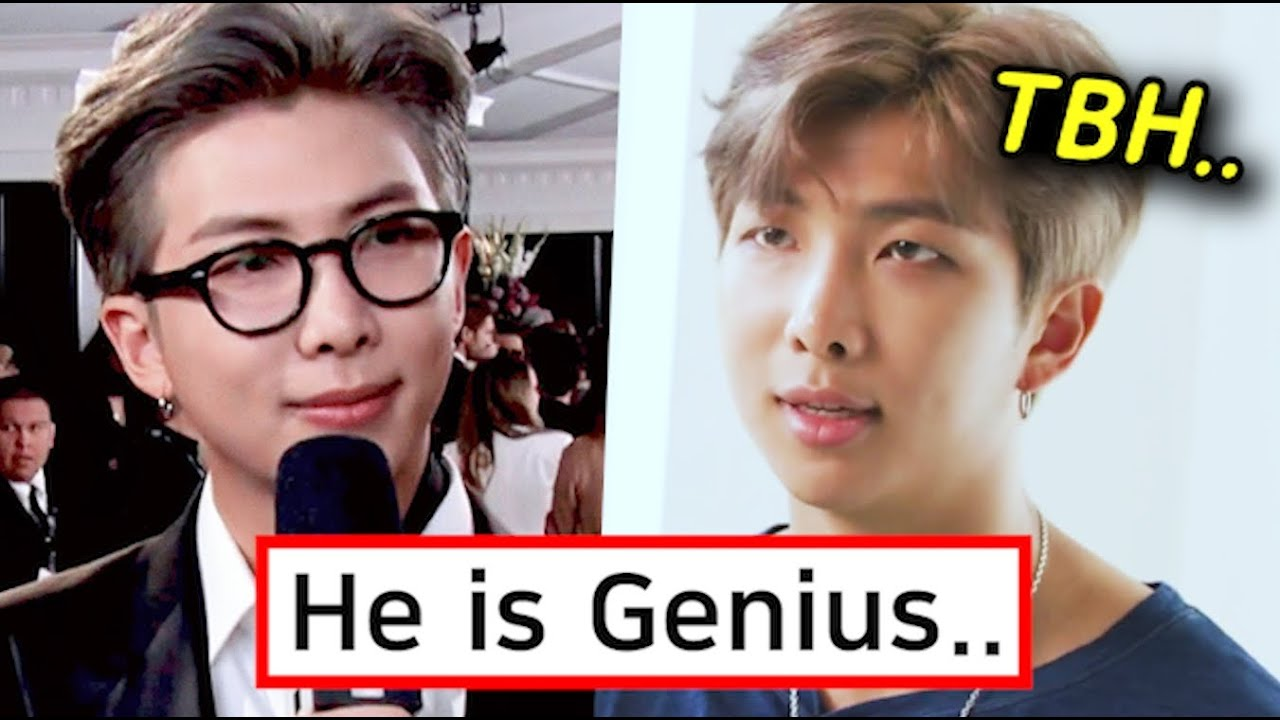 Why BTS RM Speaks Awkward English on Purpose During an Interview?