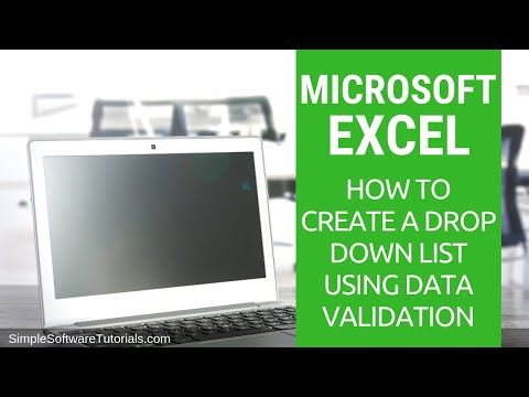 How to Create a Drop Down List in Excel Using Data Validation