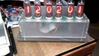Nixie Tube Clock Kit Finished