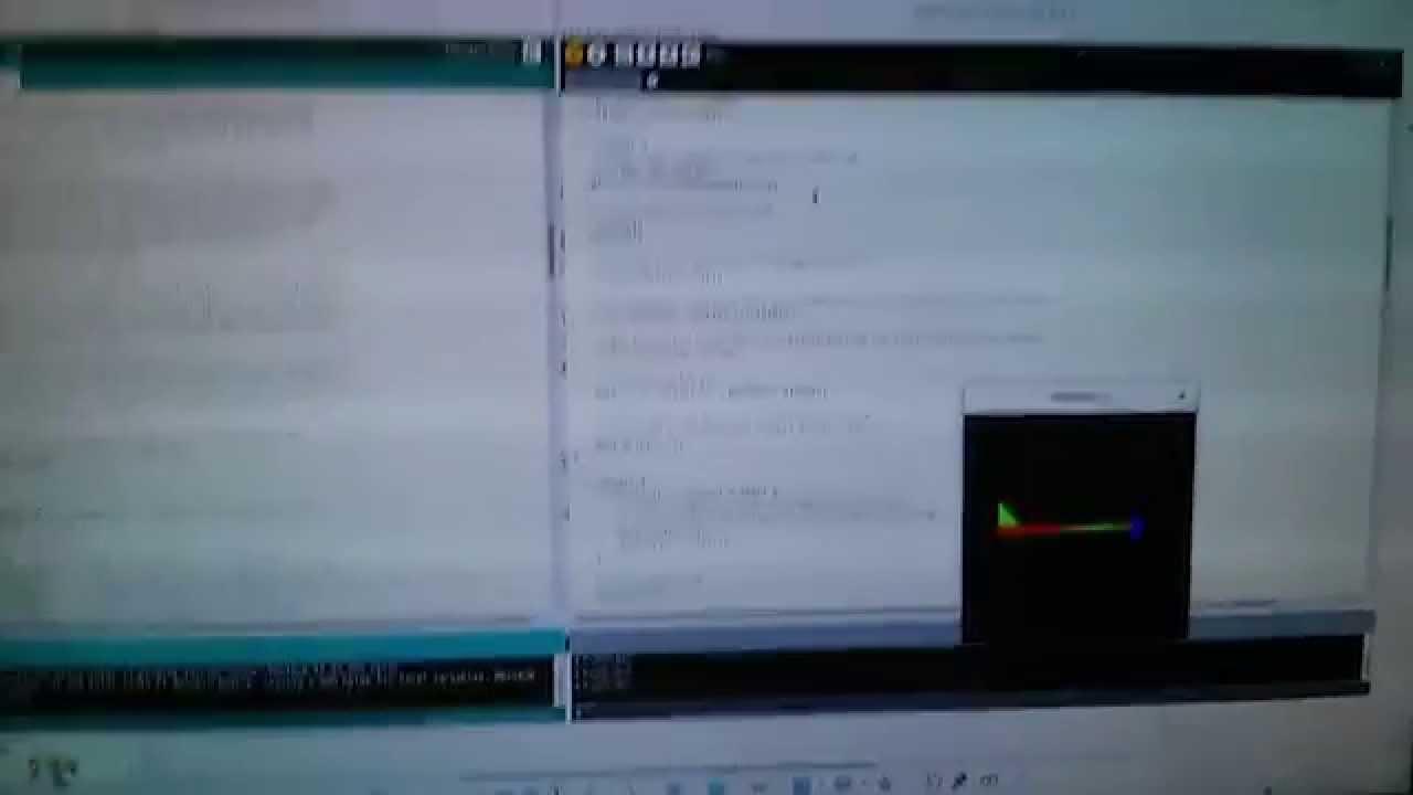Simulación con giroscopio (MPU 6050)