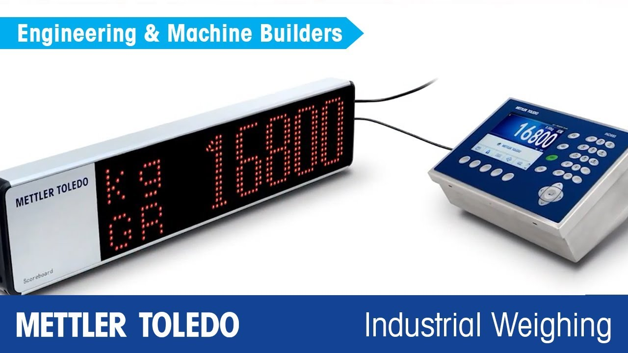 hight resolution of remote displays from mettler toledo