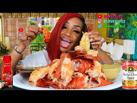 20-lobster-tails-2x-spicy-sauce-v.-nacho-cheese