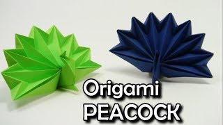 ♥️Origami PEACOCK EASY ✦IN ENGLISH✦♥️ - Yakomoga Origami easy tutorial♥️