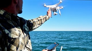 FLYING A DRONE FROM A MOVING SAILBOAT - CRASH LANDING!!