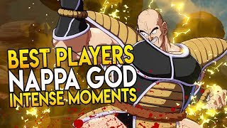 """The BEST PLAYERS in DRAGON BALL FIGHTERZ! """"PRO NAPPA GOD! INTENSE MOMENTS"""""""
