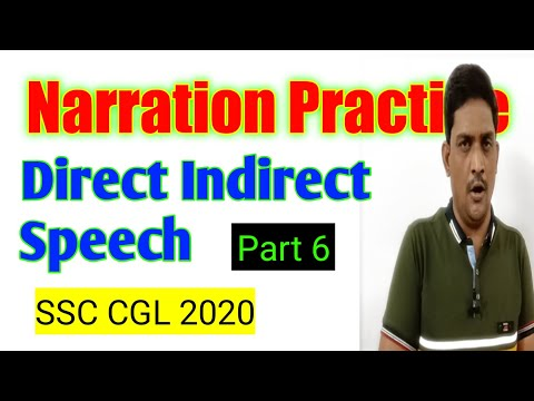 Narration Practice Exercise | Direct Indirect Speech MCQ | SSC CGL 2020