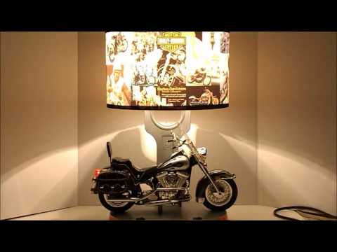 Good Harley Davidson Table Lamp With Cool Nightlight And Sound