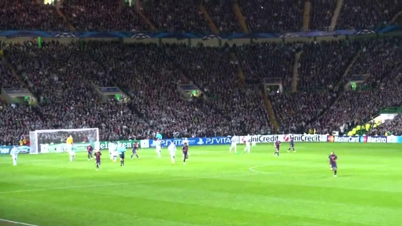 Atmosphere At Celtic Park Filmed By Barca Fan