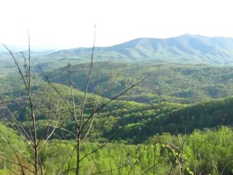 Blue Ridge Mountains Panoramic View East of Asheville, North Carolina