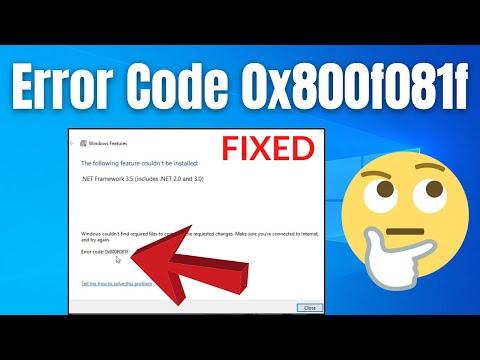 How To Fix .Net Framework 3.5 Error 0x800f081f In Windows 10 | Working