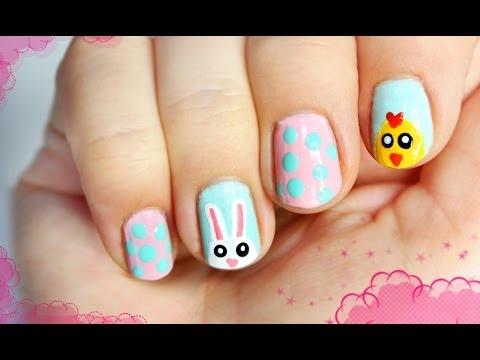 Słodkie Paznokcie Na Wielkanoc Youtube