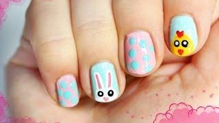 ♦ Paznokcie na Wielkanoc - królik, kurczak i pisanki ♦ Thumbnail