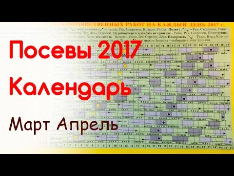 Планируем посевы. Лунный календарь март, апрель 2017