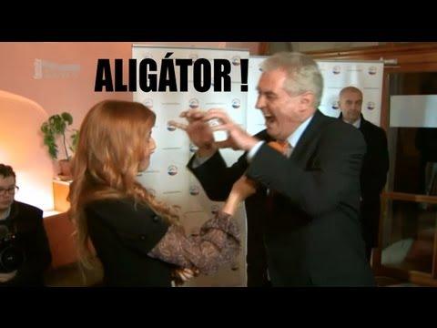 Miloš Zeman - Mobilní telefon (Aligator) - Prima TV zprávy 12.1.2013