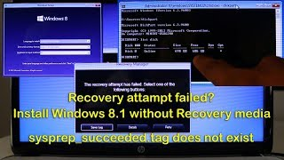 FIX BOOT UP ERROR and Successfully install Windows 8.1 when recovery media fails