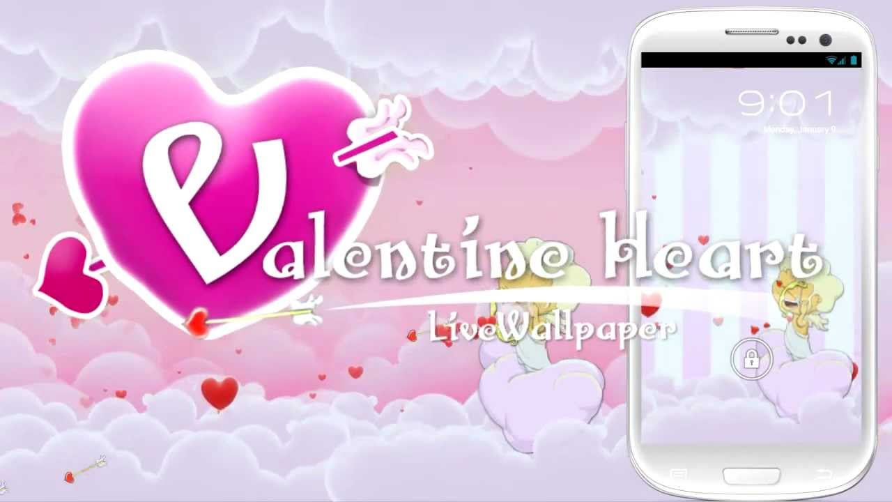 valentine heart live wallpaper free android lw app youtube - Live Valentine Wallpaper