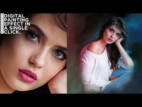 Digital Painting Effect In a Single Click | PHOTOSHOP TUTORIAL | thumbnail
