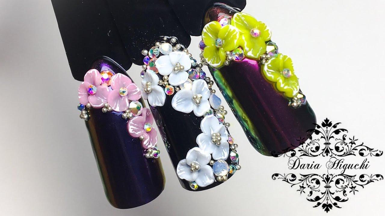 Дизайн ногтей 3д лепка гель фото