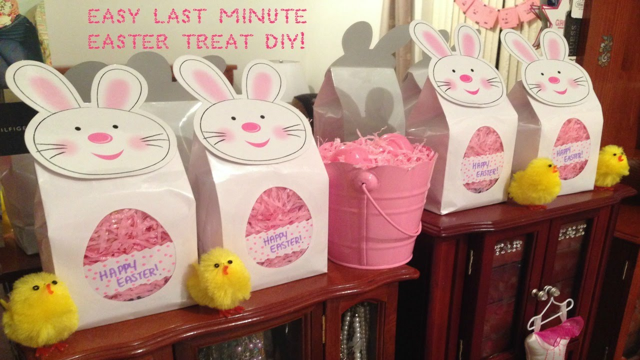 Diy easter treat gift bag youtube negle Images