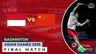 vuclip Jadwal [LIVE] Final Badminton Asian Games 2018 Indonesia vs China (Men's Team)