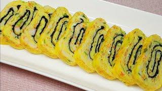 계란말이 만들기/크래미 김 달걀말이/수능도시락으로 좋아요/수현집밥레시피