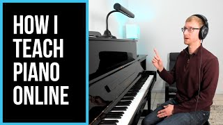 How and why I teach piano lessons online through Skype