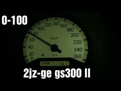 Разгон Lexus gs300 ll 0-100 0-200 60-160 2jz-ge acceleration