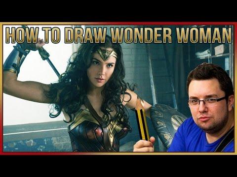 How To Draw Wonder Woman (Gal Gadot)