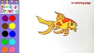 How to draw a fish 🐠 /coloring page for kids