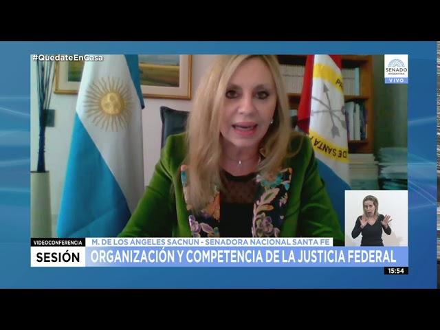 SDORA. MARÍA DE LOS ÁNGELES SACNUN 1/2 - SESIÓN ESPECIAL REMOTA 27-08-20