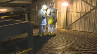 hanford f reactor inspection b roll footage