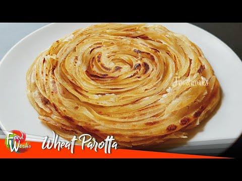 Паротта пшеничная |  Рецепт паротты |  Паротта из мягкой слоистой пшеницы |  Как сделать паротту из пшеницы |  Foodworks
