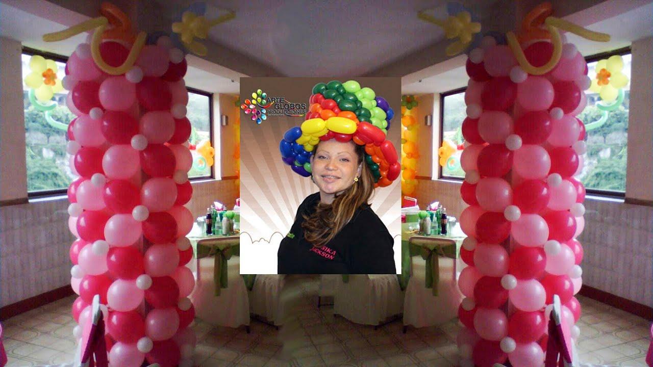 Decoracion con globos forrar columna y toldos curso de - Decoracion de globos ...