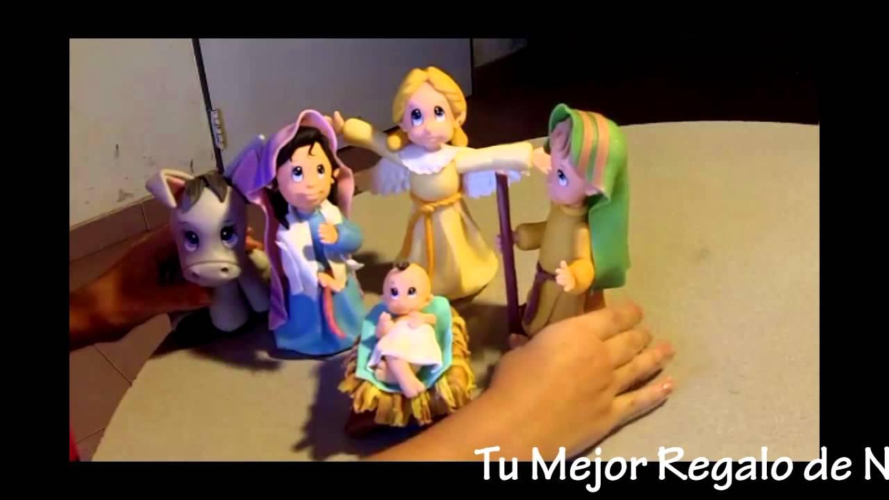 Pesebre de Navidad en Porcelana Fria - YouTube