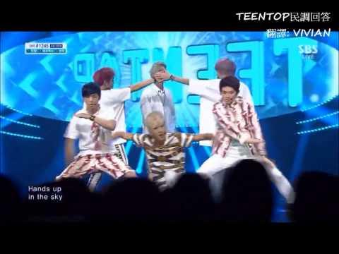 【TEENTOP民調回答�08  TEENTOP Inkigayo Rocking + Win no 1 中字