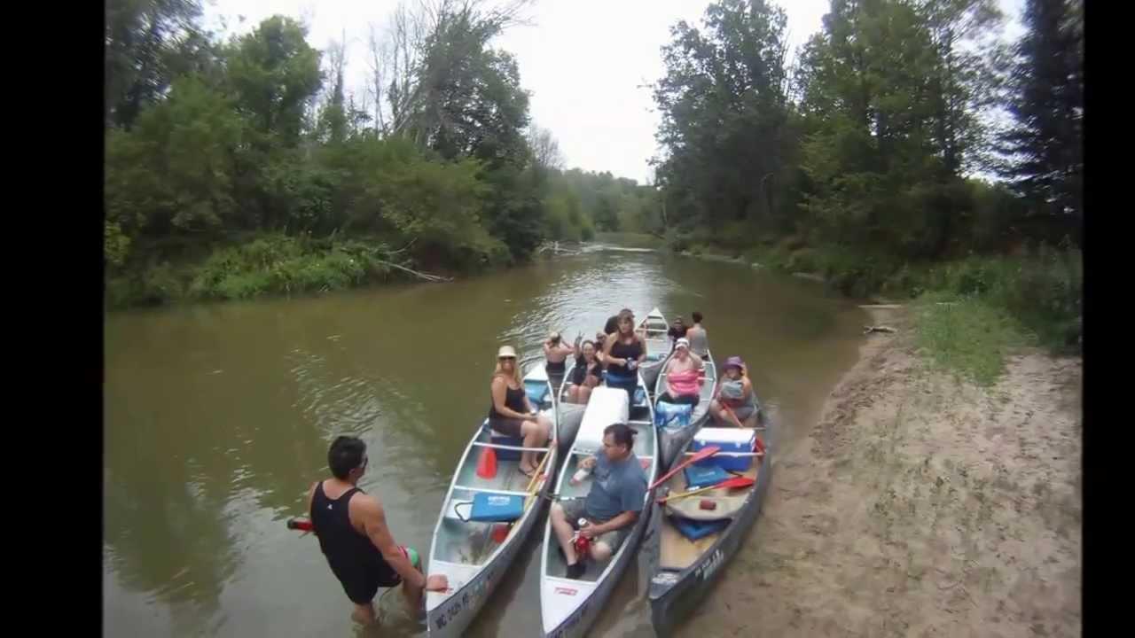 Canoe Trip on the Rifle River Michigan