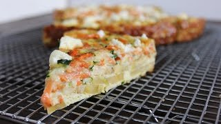 Carrot Zucchini Goat Cheese Pie With Plantain Crust (gluten-free)
