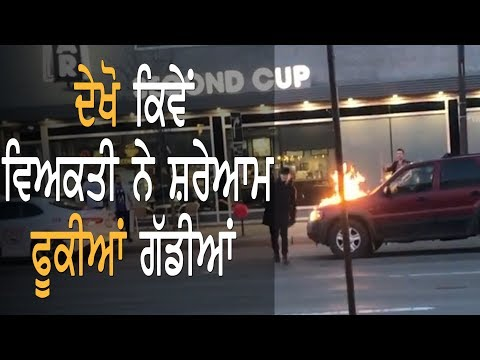 Cars Set On Fire In The Streets Of Edmonton || TV Punjab