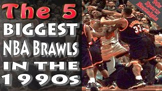 The 5 Biggest NBA Brawls During the 1990s - Basketball Fights