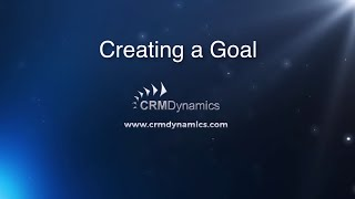 Creating a Goal in Microsoft Dynamics CRM