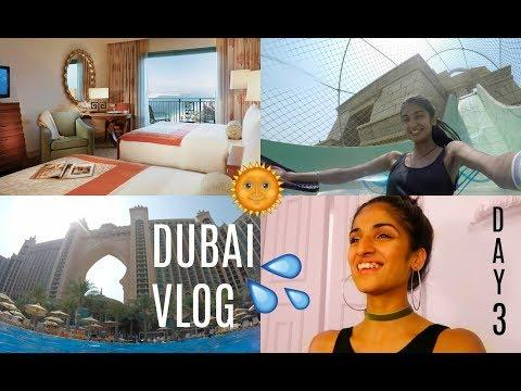 DUBAI VLOG DAY 3 💦 WATERPARK + HOTEL ROOM TOUR