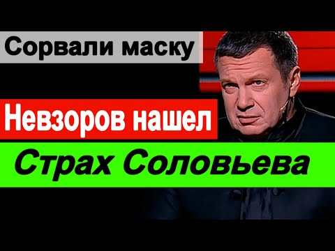🔥 Невзоров нашел страх Соловьева 🔥Навальный или Соловьев🔥