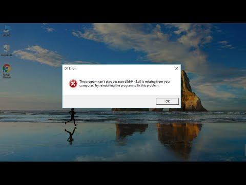 Windows 10/8/7: How to Fix D3DX9_43.dll Missing Error.