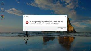 Windows 10/8/7: How to Fix D3DX9_43.dll Missing Error. Mp3